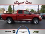 2006 Inferno Red Crystal Pearl Dodge Ram 1500 Laramie Quad Cab 4x4 #47905703