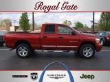 2006 Inferno Red Crystal Pearl Dodge Ram 1500 Laramie Quad Cab 4x4 #47905703