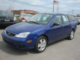 2005 French Blue Metallic Ford Focus ZX4 SES Sedan #47906499