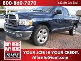 2002 Patriot Blue Pearlcoat Dodge Ram 1500 SLT Quad Cab #47906546