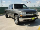 2002 Light Pewter Metallic Chevrolet Silverado 1500 LS Extended Cab 4x4 #47965981
