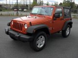 2011 Mango Tango Pearl Jeep Wrangler Sport S 4x4 #47966482