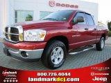 2007 Inferno Red Crystal Pearl Dodge Ram 1500 SLT Quad Cab #47965877