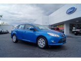 2012 Blue Candy Metallic Ford Focus SE Sedan #47965883