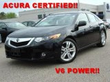 2010 Crystal Black Pearl Acura TSX V6 Sedan #47965711
