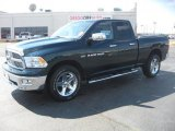 2011 Hunter Green Pearl Dodge Ram 1500 Big Horn Quad Cab #47966075