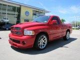 2005 Flame Red Dodge Ram 1500 SRT-10 Regular Cab #47966124