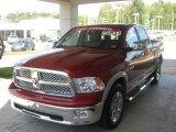 2010 Inferno Red Crystal Pearl Dodge Ram 1500 Laramie Crew Cab #47966177