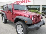 2011 Deep Cherry Red Crystal Pearl Jeep Wrangler Sport S 4x4 #48025690