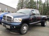 2008 Patriot Blue Pearl Dodge Ram 3500 Laramie Quad Cab 4x4 Dually #48026264