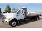 2007 White Ford F650 Super Duty XLT Regular Cab Dump Truck #48025803