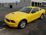 Screaming Yellow Ford Mustang in 2005
