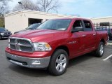 2009 Inferno Red Crystal Pearl Dodge Ram 1500 Big Horn Edition Crew Cab 4x4 #48100099