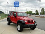 2008 Jeep Wrangler Unlimited Flame Red