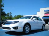 2011 White Platinum Tri-Coat Ford Fusion SEL #48099514