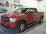 2010 Vermillion Red Ford F150 FX4 SuperCab 4x4 #48099706