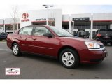 2005 Sport Red Metallic Chevrolet Malibu LS V6 Sedan #48099301