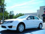 2011 White Platinum Tri-Coat Ford Fusion Hybrid #48099525