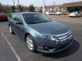 2011 Steel Blue Metallic Ford Fusion SE #48099558