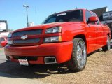 2004 Victory Red Chevrolet Silverado 1500 SS Extended Cab AWD #48099347