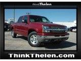 2005 Sport Red Metallic Chevrolet Silverado 1500 LS Crew Cab 4x4 #48100185