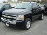 2011 Black Chevrolet Silverado 1500 LT Regular Cab 4x4 #48099593