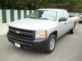2011 Sheer Silver Metallic Chevrolet Silverado 1500 Extended Cab 4x4 #48099597