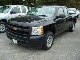 2011 Black Chevrolet Silverado 1500 Extended Cab #48099599
