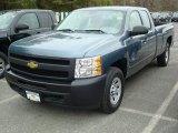 2011 Blue Granite Metallic Chevrolet Silverado 1500 Extended Cab 4x4 #48099604