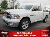2011 Bright White Dodge Ram 1500 Big Horn Quad Cab 4x4 #48099639