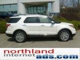 2011 White Platinum Tri-Coat Ford Explorer Limited 4WD #48099395
