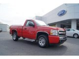 2010 Victory Red Chevrolet Silverado 1500 LS Regular Cab #48099652