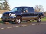 2004 Dark Green Satin Metallic Ford F250 Super Duty Lariat Crew Cab 4x4 #48099805