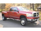2007 Inferno Red Crystal Pearl Dodge Ram 3500 SLT Quad Cab 4x4 Dually #48100033