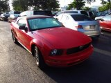 2005 Torch Red Ford Mustang V6 Premium Convertible #48167869