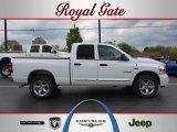 2008 Bright White Dodge Ram 1500 Laramie Quad Cab 4x4 #48167883