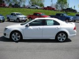 2011 White Platinum Tri-Coat Ford Fusion Sport #48190037