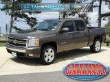 2008 Desert Brown Metallic Chevrolet Silverado 1500 LT Crew Cab #48194275