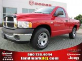 2005 Flame Red Dodge Ram 1500 ST Regular Cab #48193964