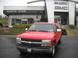 2000 Victory Red Chevrolet Silverado 1500 LS Extended Cab 4x4 #48193996