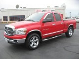 2007 Flame Red Dodge Ram 1500 Big Horn Edition Quad Cab #48194097