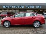 2012 Red Candy Metallic Ford Focus SEL Sedan #48233513