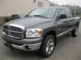 2008 Mineral Gray Metallic Dodge Ram 1500 Big Horn Edition Quad Cab 4x4 #48233843