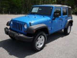 2011 Cosmos Blue Jeep Wrangler Unlimited Sport 4x4 #48233734