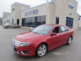 2010 Sangria Red Metallic Ford Fusion Sport #48233386