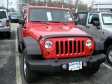 2011 Flame Red Jeep Wrangler Sport S 4x4 #48268314
