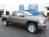 2011 Mocha Steel Metallic Chevrolet Silverado 1500 LT Extended Cab 4x4 #48268559