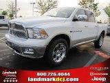 2011 Bright White Dodge Ram 1500 Laramie Crew Cab 4x4 #48328413