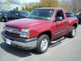 2004 Sport Red Metallic Chevrolet Silverado 1500 LS Regular Cab 4x4 #48328436