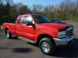 2002 Red Clearcoat Ford F250 Super Duty XLT SuperCab 4x4 #48328453